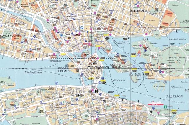 Mapa de Estocolmo (lugares visitados)