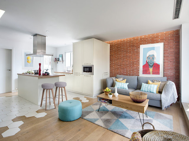 Culori vesele și un decor plin de personalitate într-un apartament de 86 m² din Barcelona