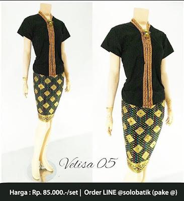 Rok dan Blouse Batik Velisa05 hitam