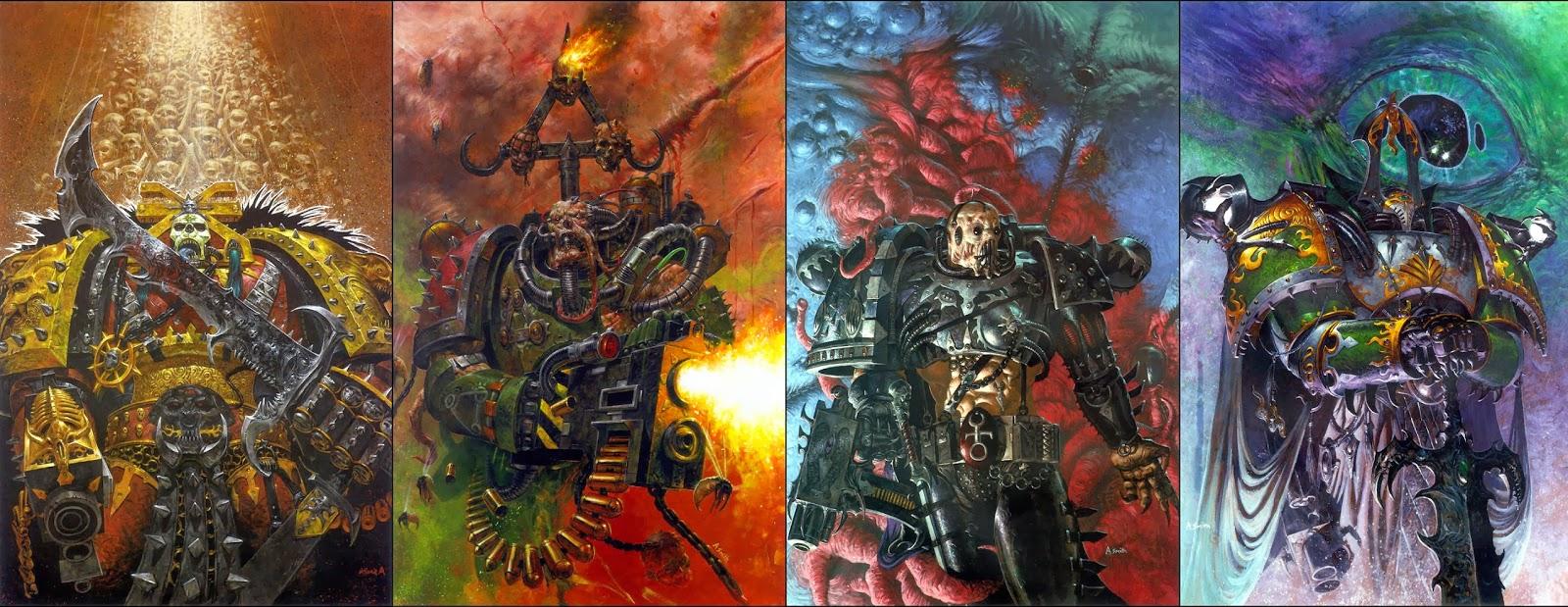 Chaos Marine Box Sets pt 4 Icons and Marks of the GodsWarhammer 40k Chaos Gods