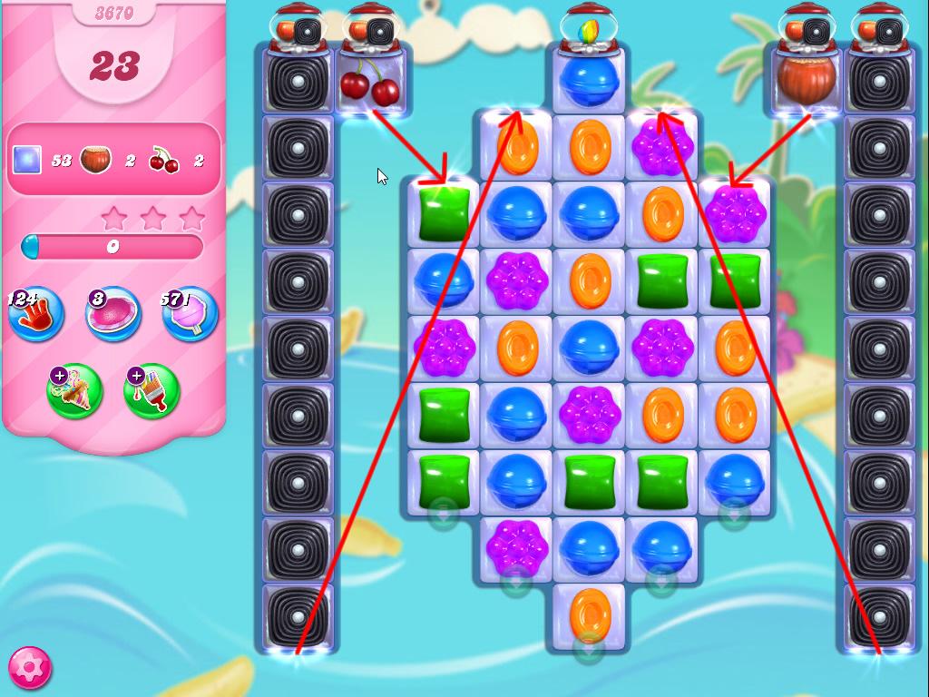 Candy Crush Saga level 3670