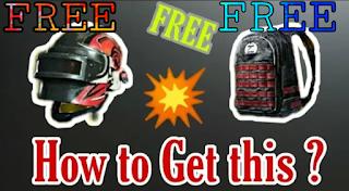 pubg mobile free bag and helmet skin