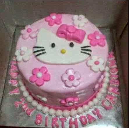 Kue Ulang Tahun Hello Kitty Bandung Fondant Dan Tart