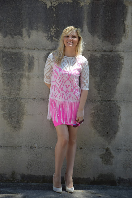 how to wear fuchsia dress how to combine fuchsia dress fuchsia dress outfits mariafelicia magno fashion blogger color block by felym fashion bloggers italy italian fashion bloggers june outfits summer outfits