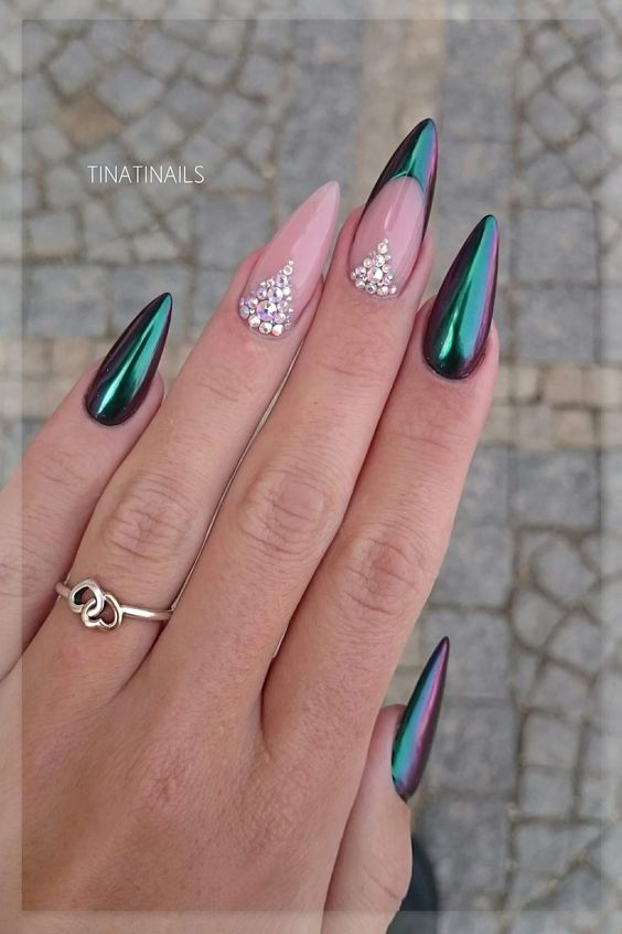 Glitter med chrome