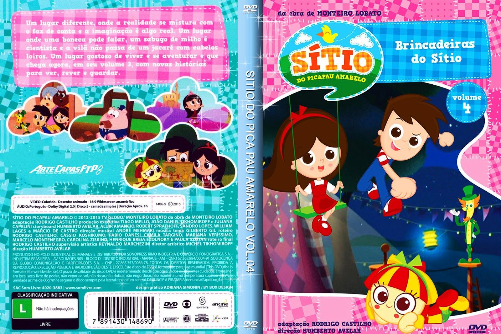 Sítio Do Picapau Amarelo Vol.4 DVD-R S 25C3 25ADtio 2BDo 2BPicapau 2BAmarelo 2BVol