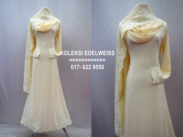 Baju kahwin Baju Tunang NIkah Simple Warna Cream