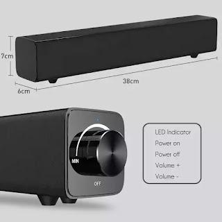 Barra de som Bluetooth 20w 38cm