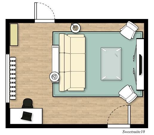 Livingroom layout option 1