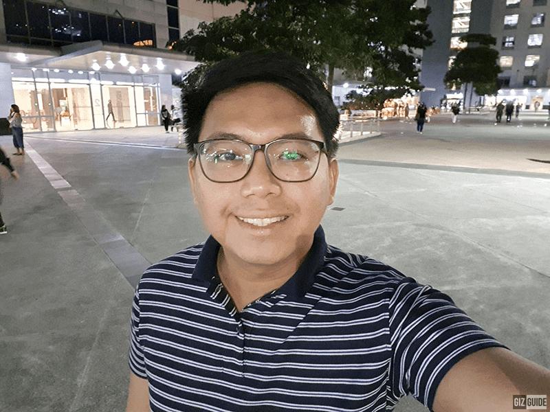 Low light selfie