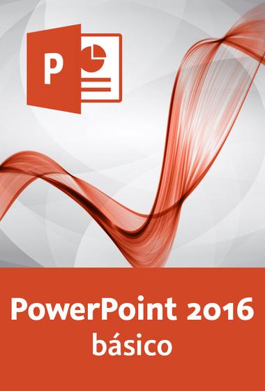 Portada del curso video2brain power point 2016 básico