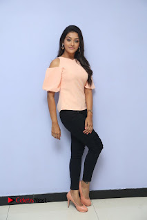 Actress Pooja Jhaveri Pictures in Jeans at Dwaraka Movie First Look Launch  0150