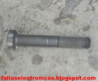 herramienta casera para quitar el rotor de compresor