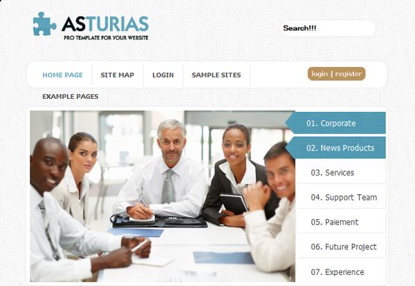 AsturiasBlack - globbersthemes Corporate Joomla Template 1.7