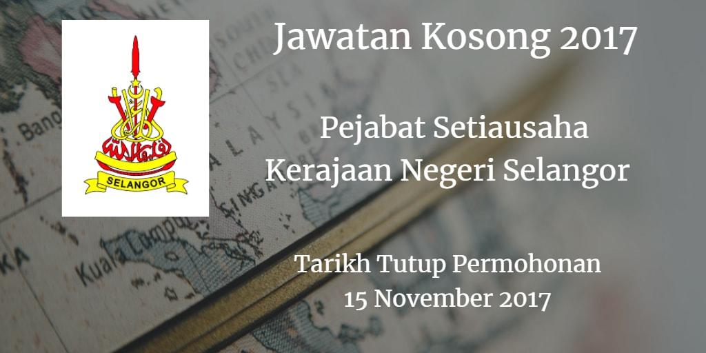 Jawatan Kosong SUK Selangor 15 November 2017