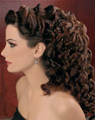 Peinados para fiesta semi recogido con rizos de moda YouTube - peinados con rizos para fiestas