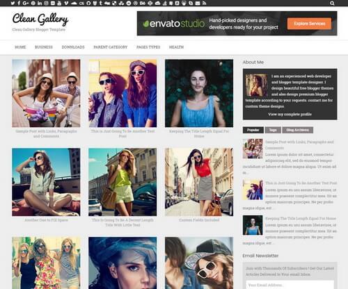 Template Blogspot chia sẻ hình ảnh, video tuyệt đẹp