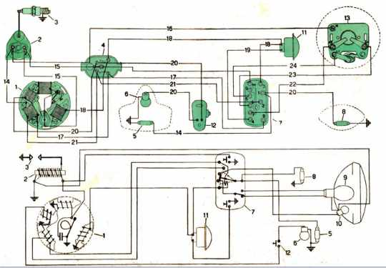 Electric Wiring Diagrams Of A Vespa Scooter
