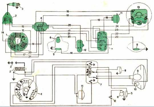 Electric Wiring Diagrams Of A Vespa Scooter | All about