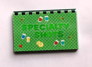 Specialty Shots blank recipe book