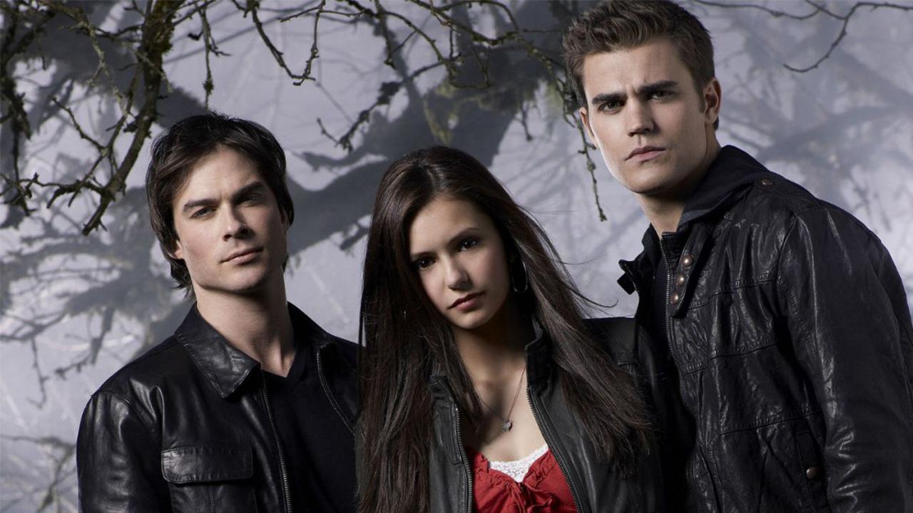 Fotografía del reparto original de 'The Vampire Diaries'