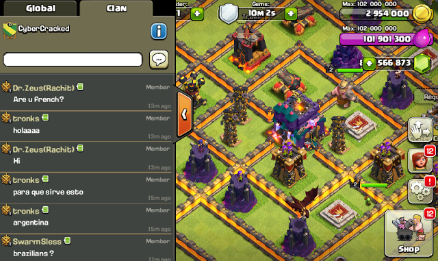 Game Clash of Clans Mod/Hack APK Thunderbolt Server Update Oktober 2015
