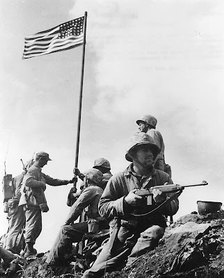 The First Flag Raising on Mount Suribachi, Iwo Jima