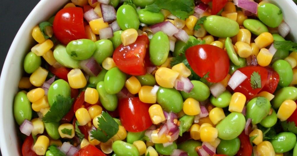 The Garden Grazer: Edamame, Tomato, Corn Salad with Lemony Dressing