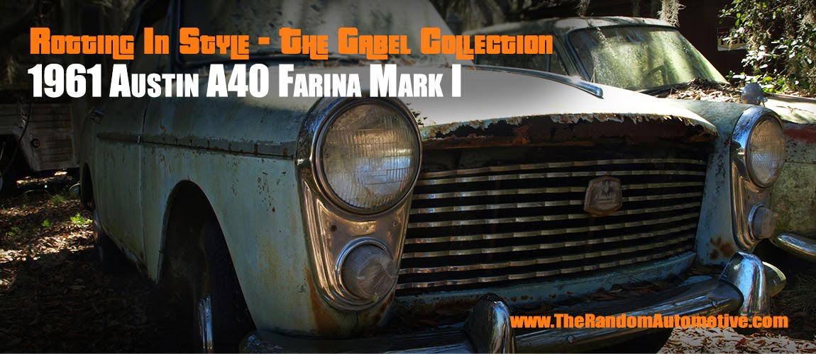 1961 austin a40 farina mark i mk1 abandoned florida orlando running rev engine british
