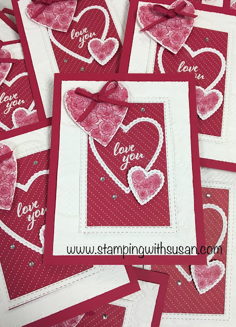 Stampin' Up!, Meant to Be Bundle, www.stampingwithsusan.com, Be Mine Stitched Framelits, Rectangle Stitched Framelits