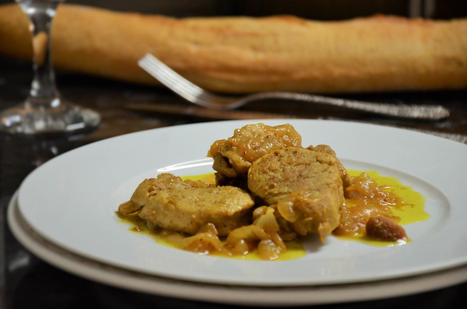 La cocina de puri pastor solomillo encebollado al jerez - Solomillo de cerdo encebollado ...