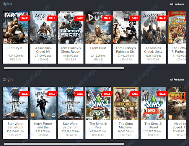 Purchasing PC games on xapo store