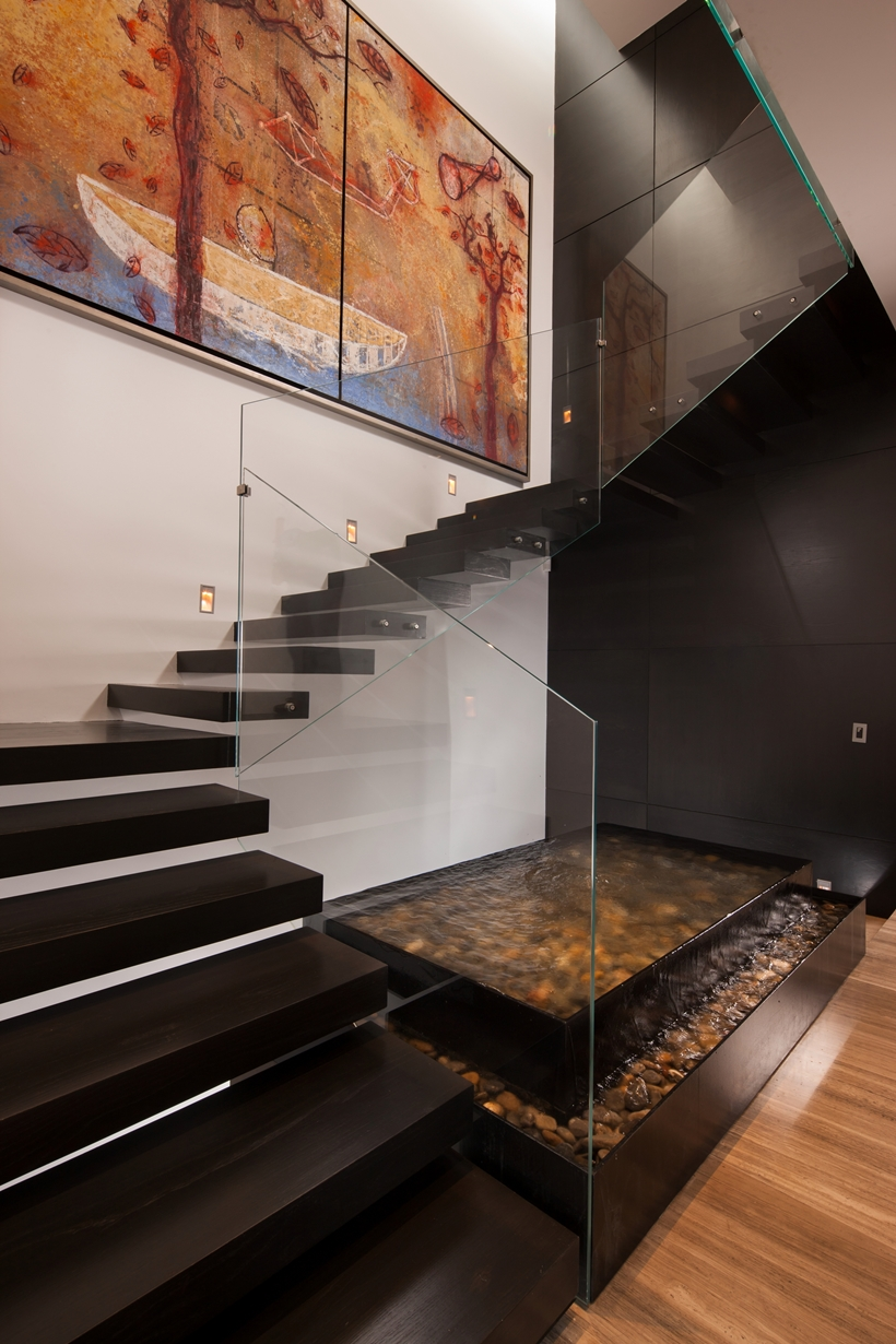 Stairs in Dominant modern mansion by GLR Arquitectos