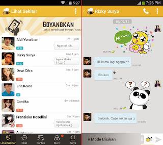 Tampilan Keren Chat BeeTalk for Android Terbaru