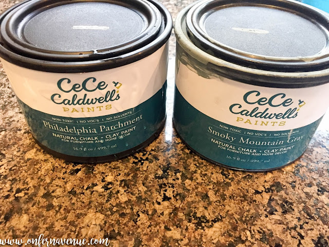 CeCe Caldwell Paints in Philadelphia Parchment Smokey Mountain Gray