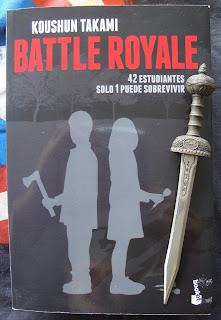 Portada del libro Battle Royale, de Koushun Takami