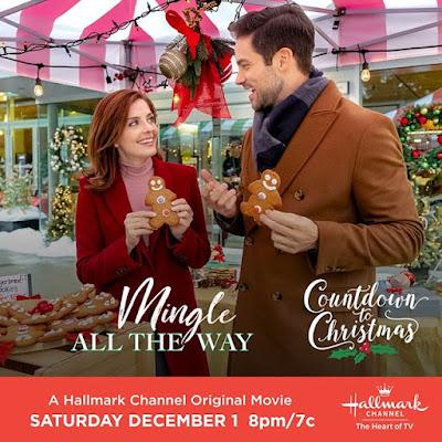 "Hallmark Christmas original movie ""Mingle All the Way"" Brant Daugherty, Jen Lilley"