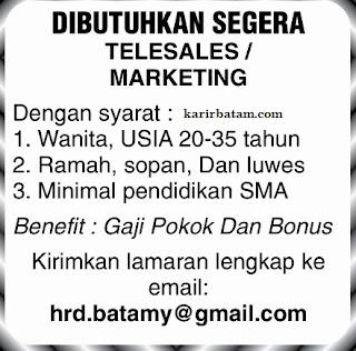 Lowongan Kerja Telesales/Marketing