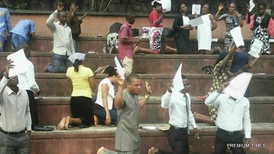 """Stranded Akwa Ibom teachers hold public prayer for God to """"touch"""" State Governor"""