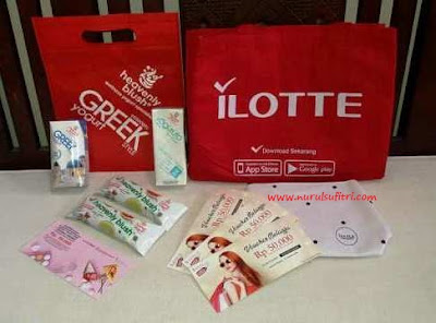 goody bag dari heavenly blush dan ilotte online mall nurul sufitri