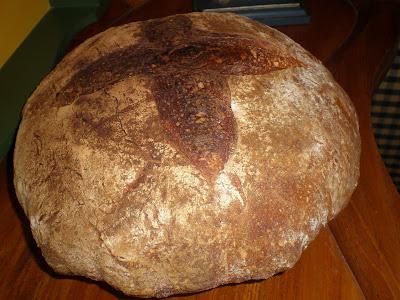 pan rústico harina integral harina de centeno hogaza como hacer pan