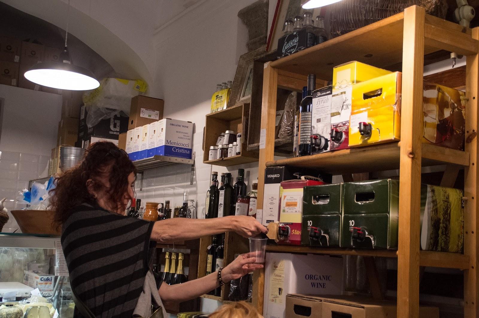 Wine on Secret Food Tour Rome