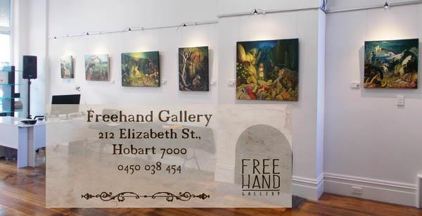 Freehand Gallery; 212 Elizabeth St., Hobart, Tasmania 7000. Phone 0450 038 454