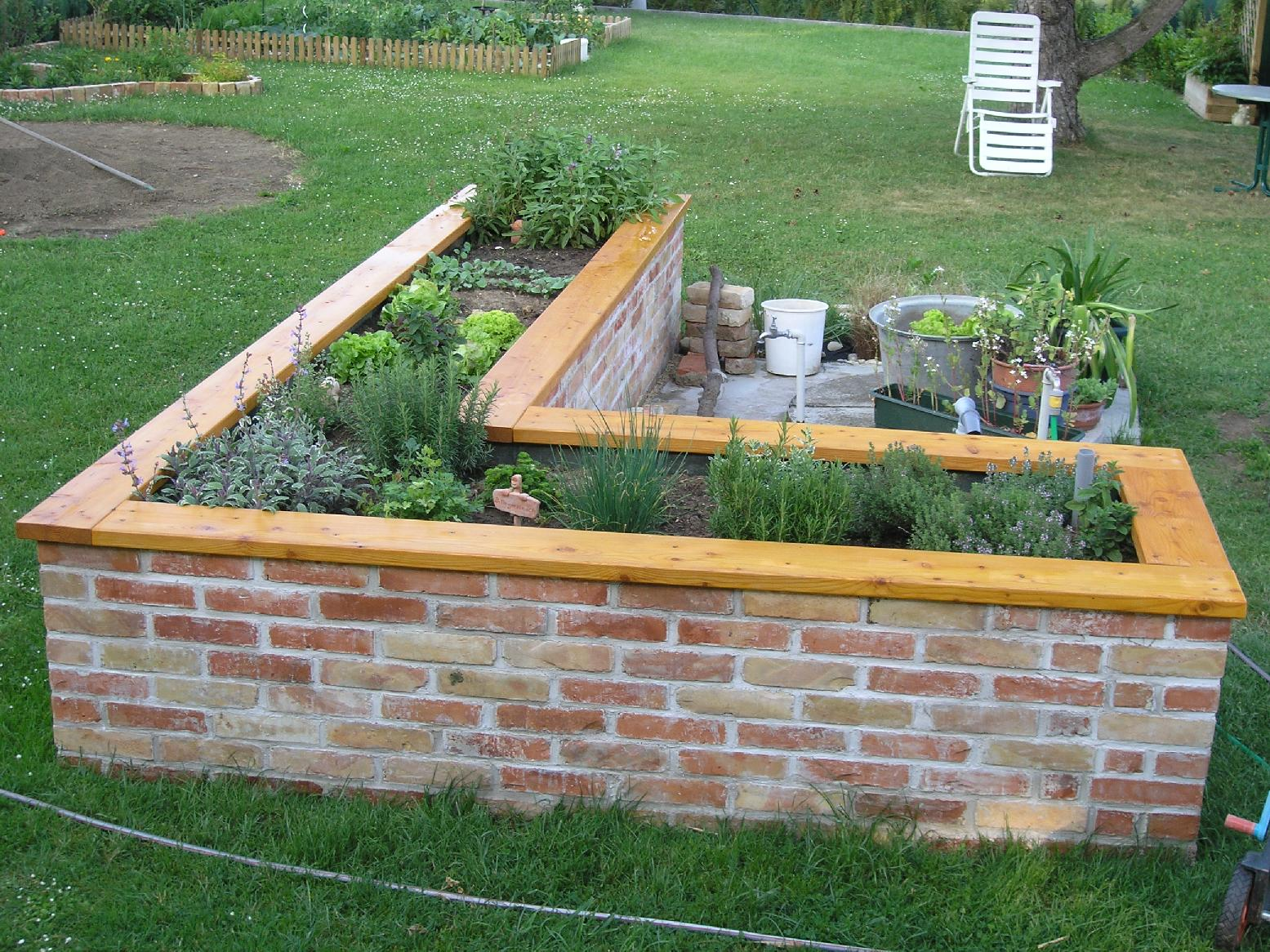 Terrasse Bauen Steinplatten Holzterasse Gerundet Terrasse