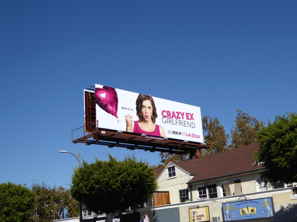 Crazy Ex-Girlfriend series billboard