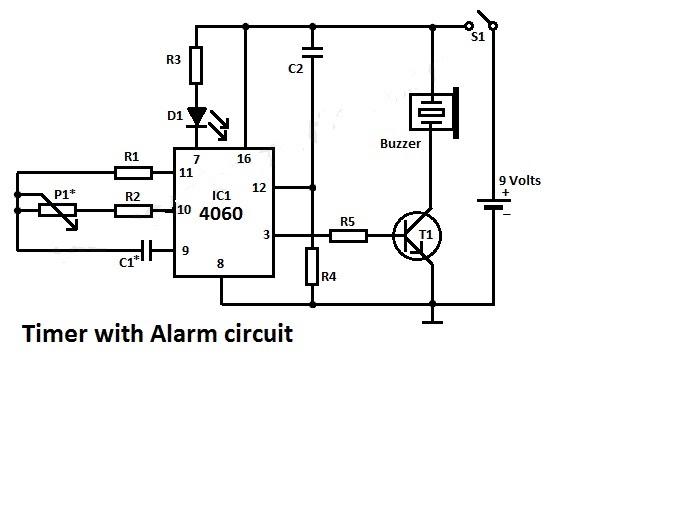 * Timer Alarm circuit diagram ~ Graetz