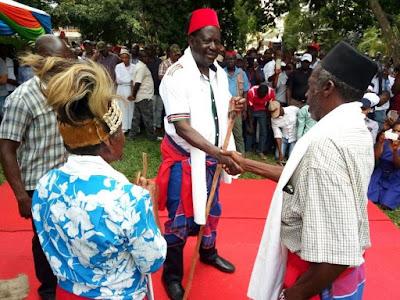 Raila Odinga in Mombasa. PHOTO | FILE