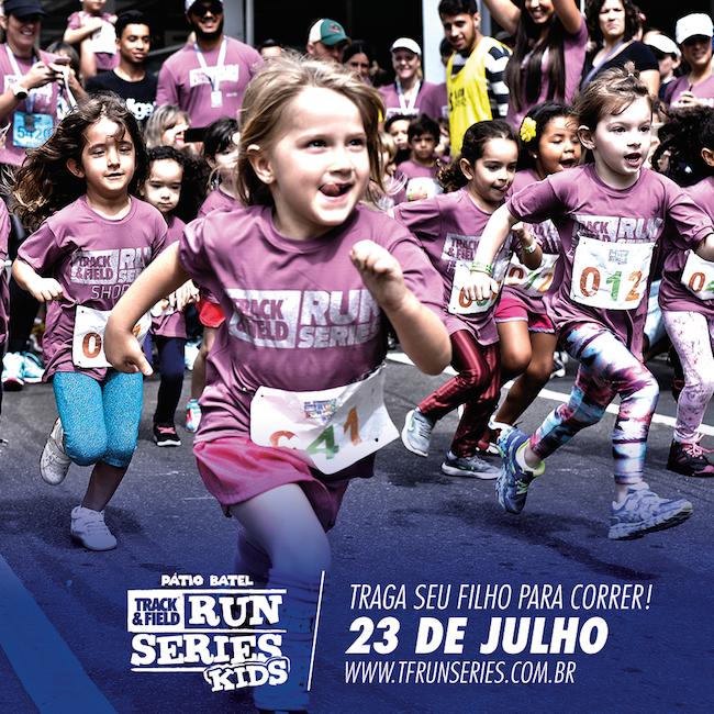 Pátio Batel promove Track&Field Run Series com modalidade Kids