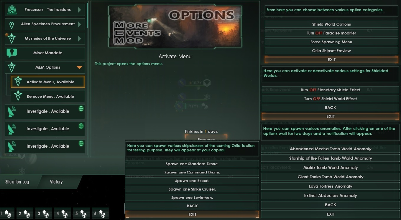 The Best Stellaris Mod - More Events mod