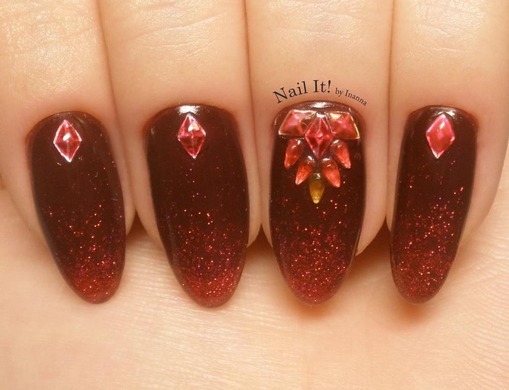 Glitter Jewellery Nail Art